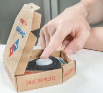 Domino's easy order button