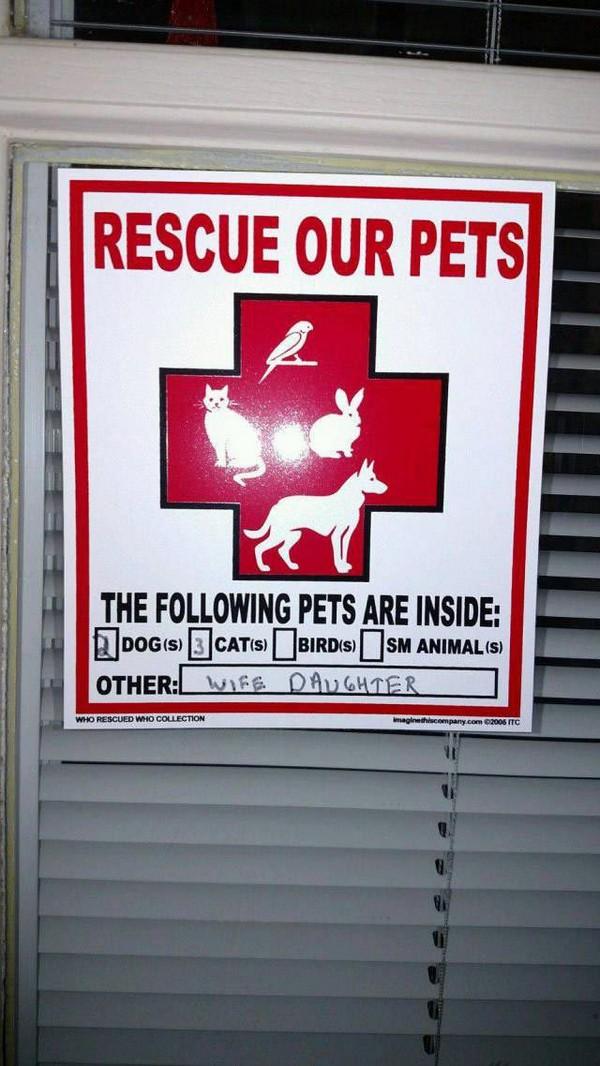 Rescue priorities