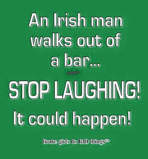 An Irish man walks out of a bar