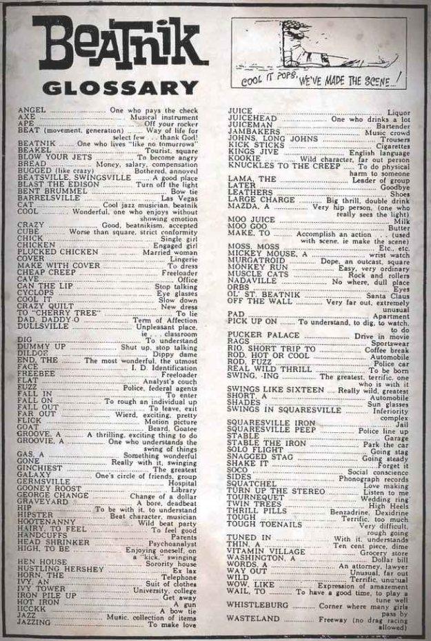 beatnik-glossary