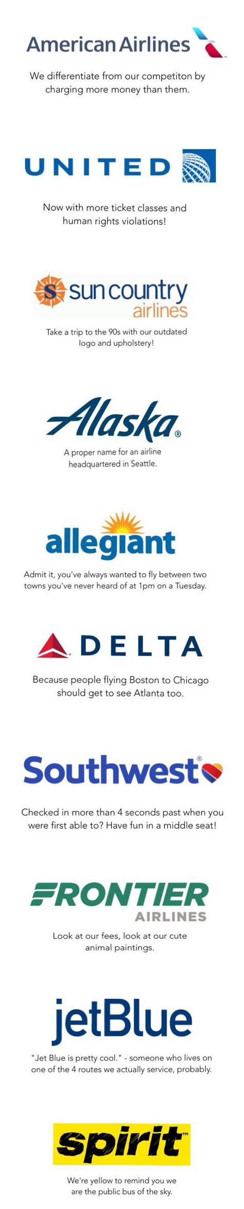 American Airlines Slogan : american, airlines, slogan, Airlines, Honest, Slogans, Pieces