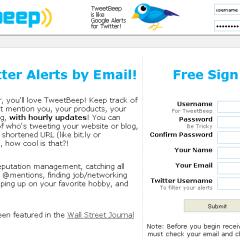 Herramientas de Productividad: TweetBeep
