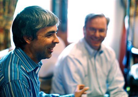 Larry Page y Eric Schmidt