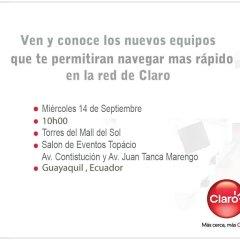 Claro presenta sus equipos 4G en Ecuador