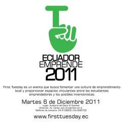 First Tuesday Ecuador