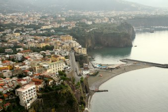 Our first view of Sorrento as we drove along the coast