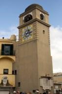 The clock tower in the centre of Capri