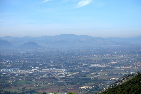 Looking out over Cassino