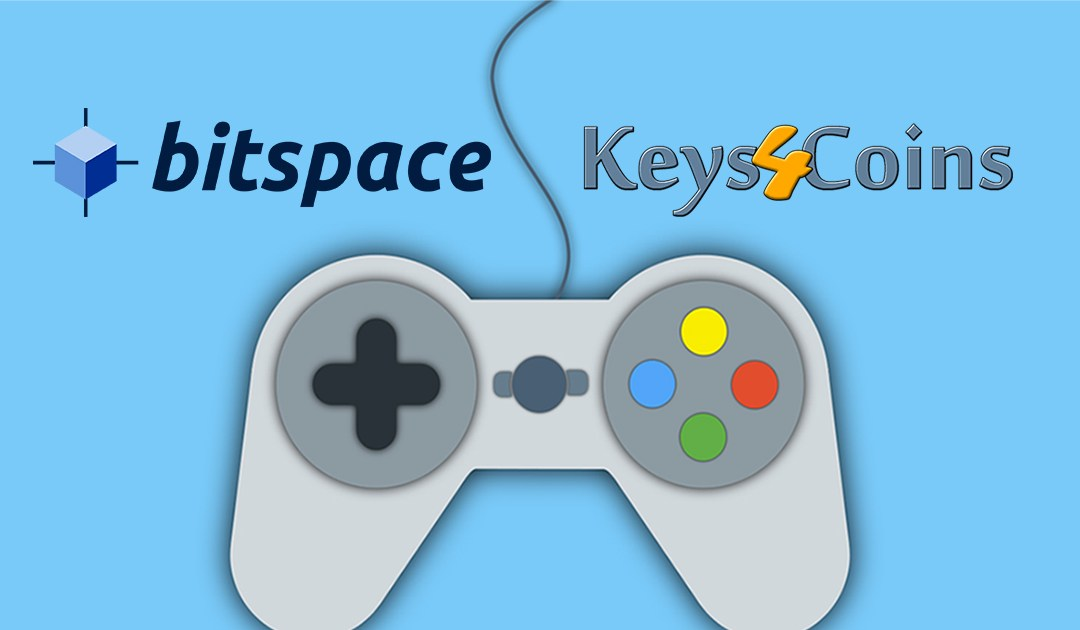 Gaming eCommerce platform Keys4Coins joins BitSpace