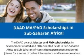 DAAD Scholarships for Postgraduate African Students