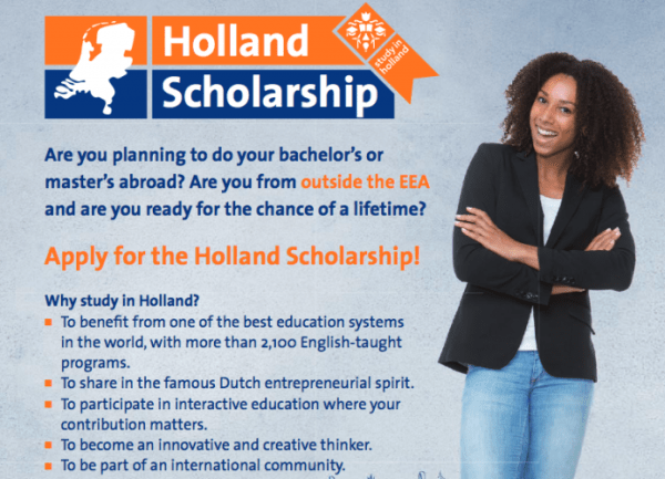 Holland Scholarship for B.Sc. and Masters programme