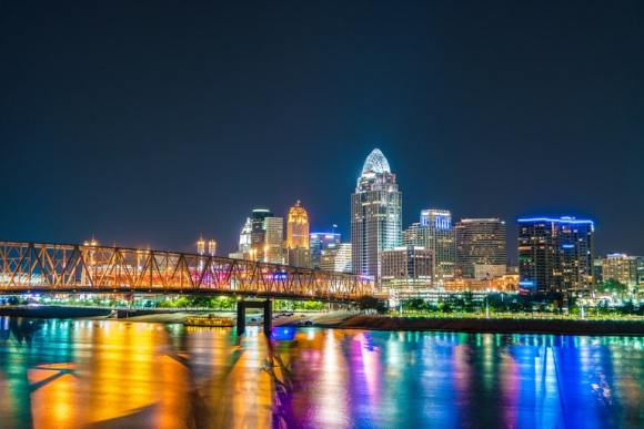 Cincinnati Skyline as captured by Dave Morgan