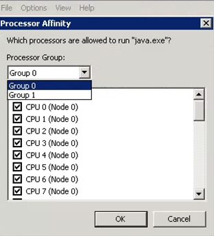 Processor Groups in Task Manager