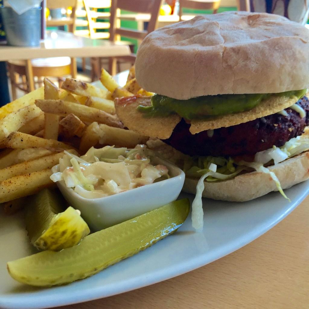 Veggie Burger at Atomic Burger Oxford