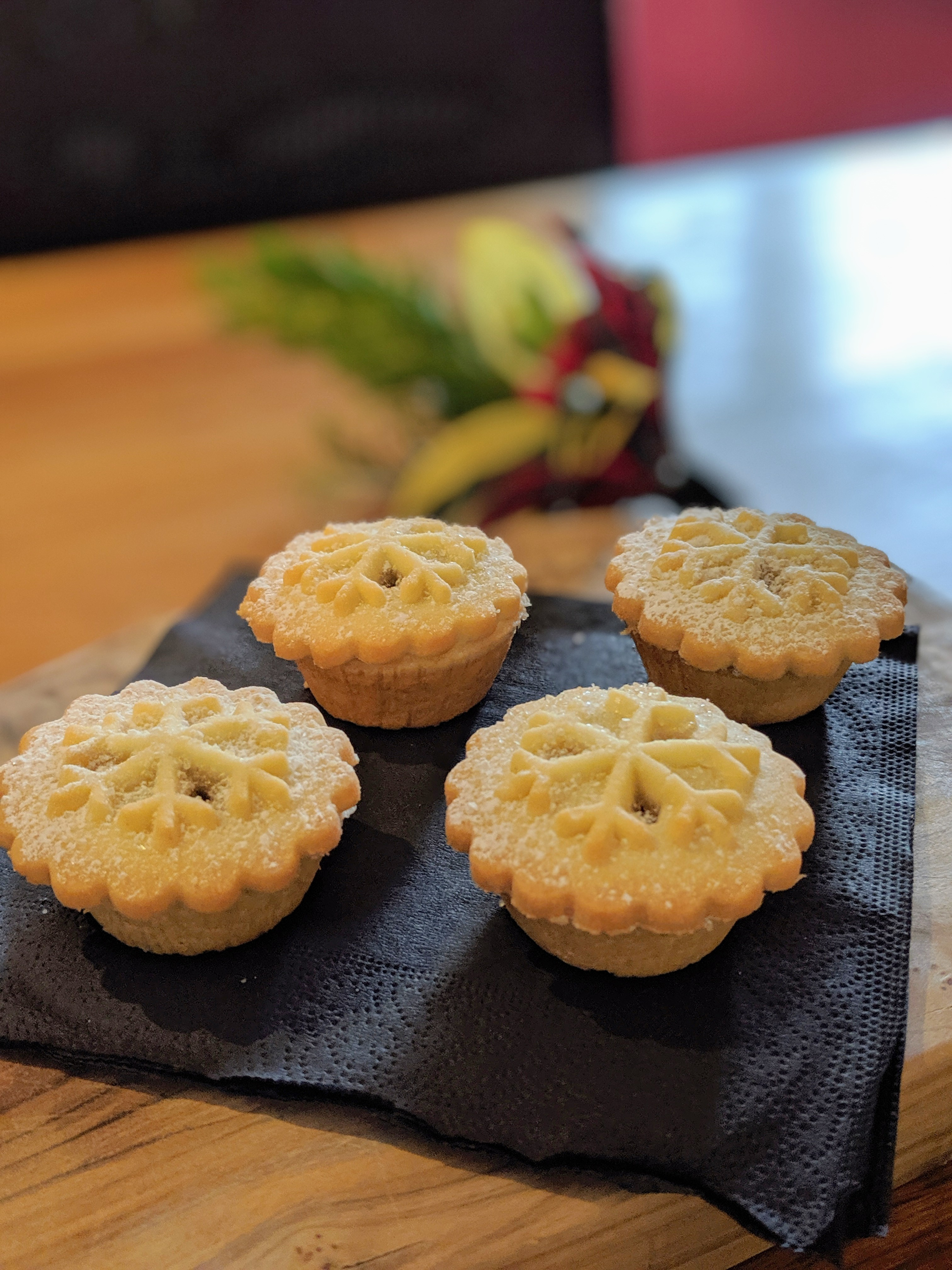 Mini mince pies at The Baskerville Henley | Image Credit Bitten Oxford
