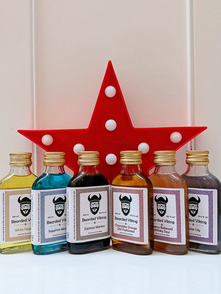Bearded Viking, Oxford, homemade cocktail delivery, available nationally
