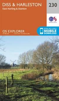 OS Explorer Map 230 - Diss & Harleston