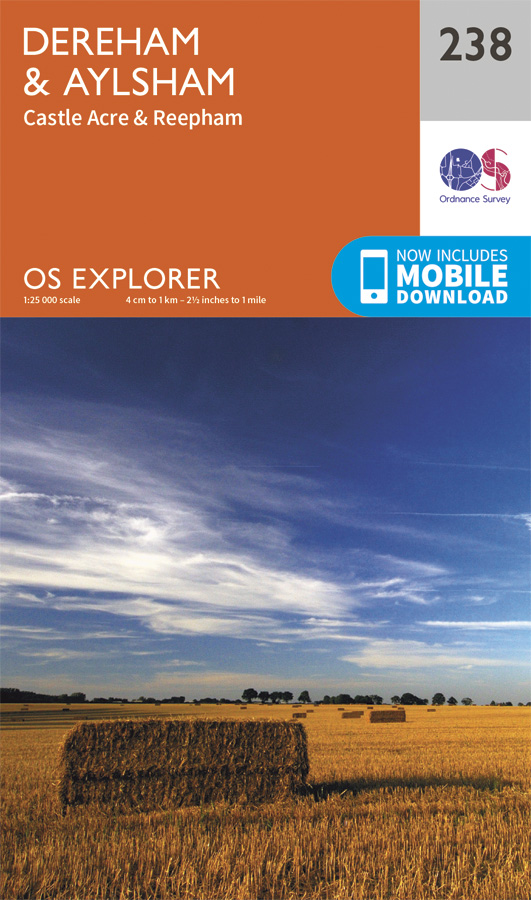 OS Explorer 238 Dereham and Aylsham