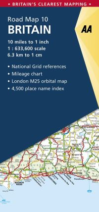 AA Road Map 10 - Britain