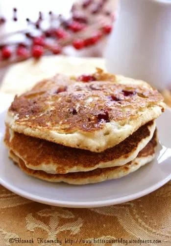 Cornbread Cranberry Pancakes