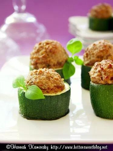 Stuffed Zucchini Bites