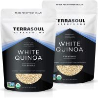 Terrasoul Superfoods Organic White Quinoa, 4 Lbs - Pre-washed