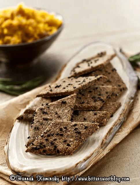 Hazelnut-Rosemary Crackers