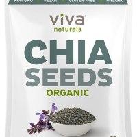 Viva Naturals Organic Raw Chia Seeds (2 LB)