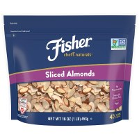 FISHER Chef's Naturals Sliced Almonds, 16 oz, Naturally Gluten Free, No Preservatives, Non-GMO