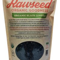 Rawseed Black Lentils Organic Certified 2 lbs,Non Gmo