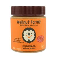 Wellnut Farms Rich and Creamy Non GMO Walnut Butter with Omega 3, Original, 11 Ounce