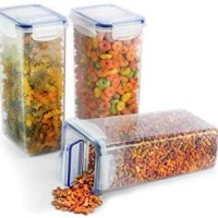 Popit! Cereal and Grain Dispenser Set 3 x 7.6 Cup Containers