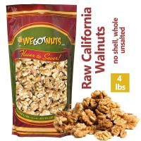 California Raw Walnuts – 100% All Natural Shelled Halves and Pieces (4lb)