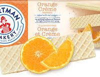 Voortman Orange Creme Wafers, 10.6 oz (Pack of 4)