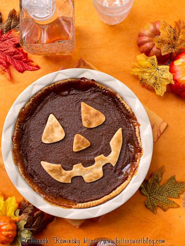 Applejack-O'-Lantern Pumpkin Pie