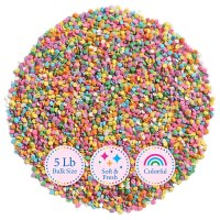 5 Lb Bulk Sprinkles, Colorful, Sweet & Convenient Pastel Sequins by Kerry Select