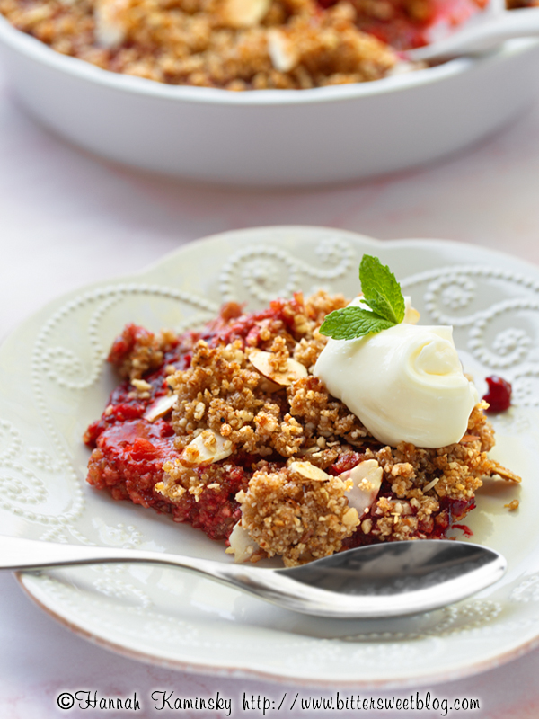 Mixed Berry Matzo Crumble