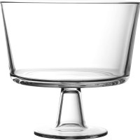Royalty Art European Trifle Bowl with Pedestal, Round Dessert Display Stand for Laying Cakes, Pastries or Baked Goods