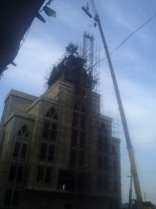The dismantling of a cross