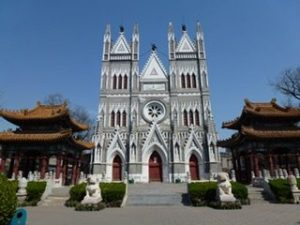 a church in gothic style in China