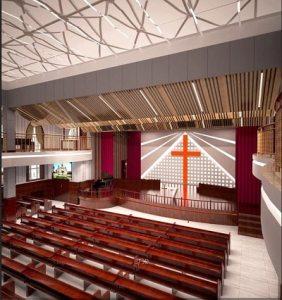 The new church in Yigli can seat 8000
