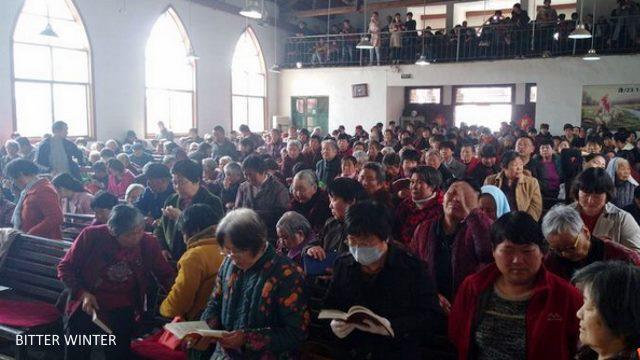 Dongguan Gospel Hall in Dangshan county before demolition