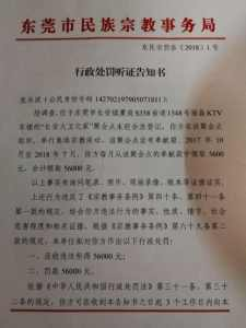 Administrative penalty notice for the House of David Church of Chang'an in Dongguan city.