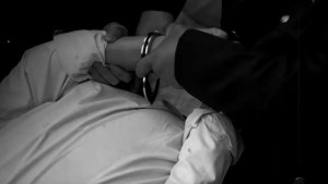 Be handcuffed (taken from the Internet)