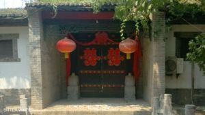 """Indoctrination base inside the """"Xuanpingyuan"""" agritourism site, located in the Weiyang district of Xi'an city"""
