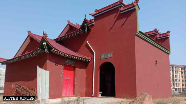 The original appearance of the Fuzhu Temple in Chaoxian village