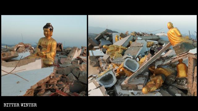 万佛楼寺变成了废墟。