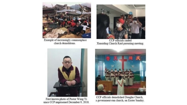 Examples of persecution from ChinaAid's report