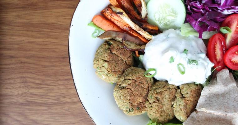 Vegan Falafel & tzatziki bowl