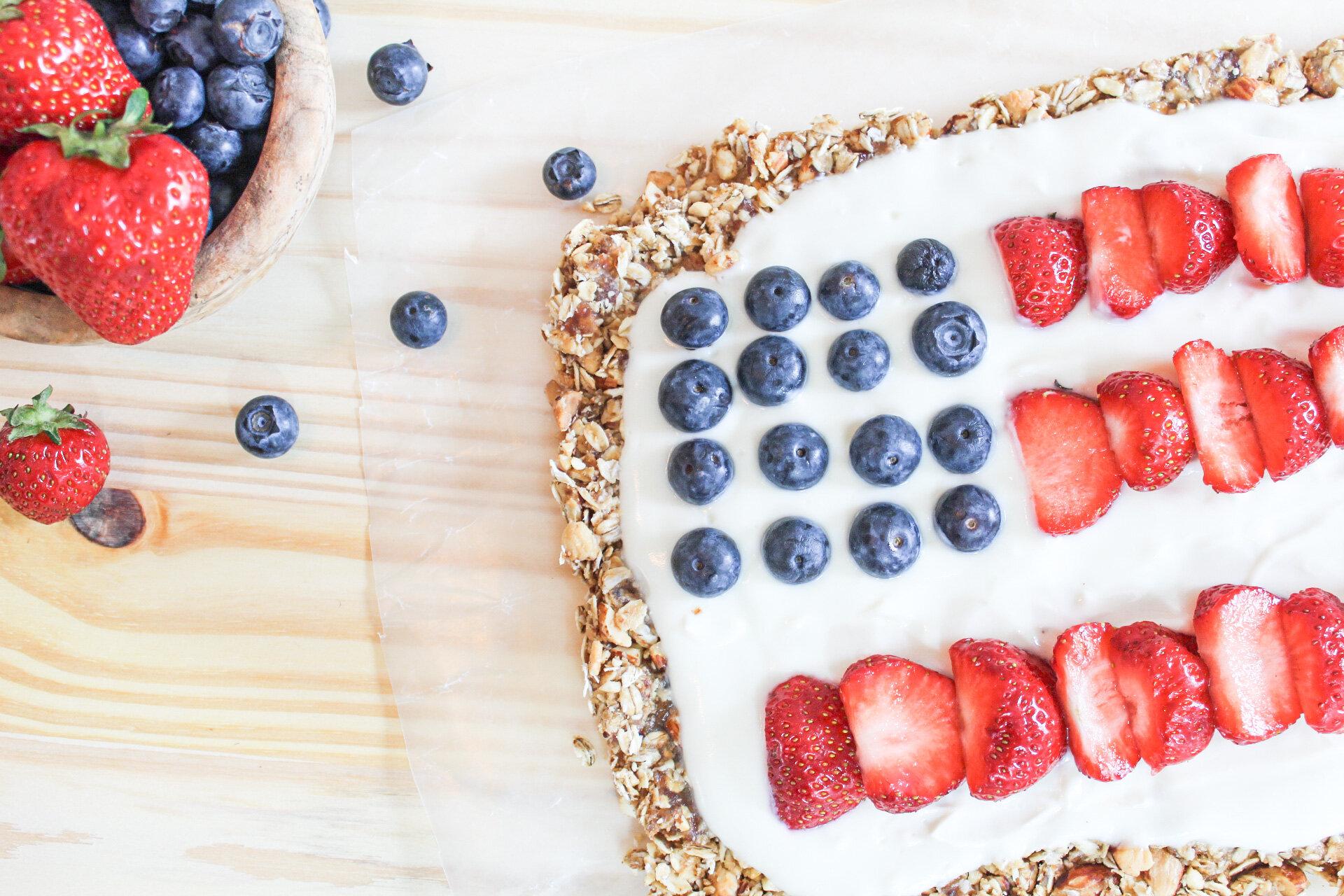 No-bake Flag Granola Cake